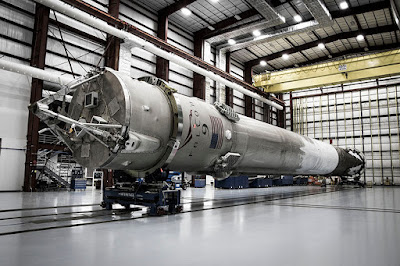 Falcon-9-in-a-hanger-after-flight
