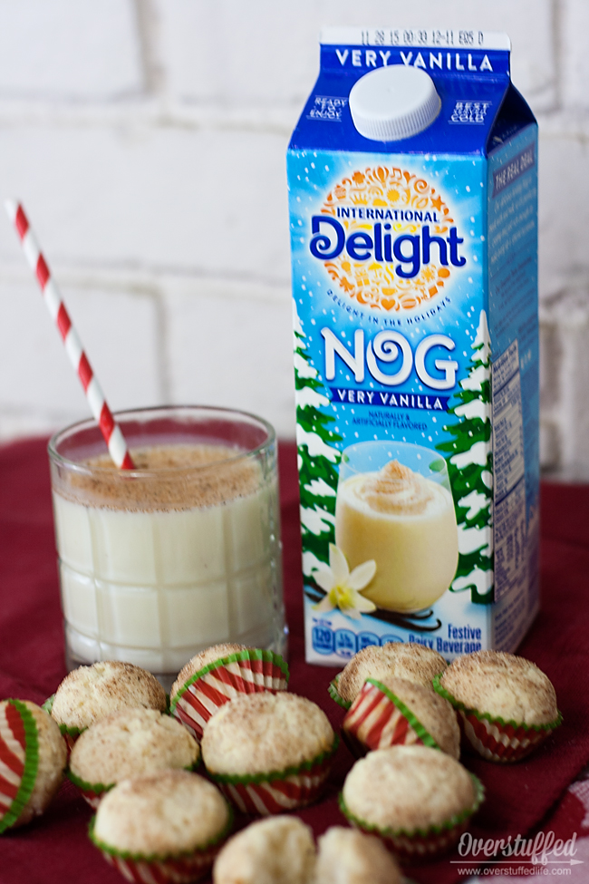 Make this eggnog mini muffin recipe using International Delight very vanilla nog.