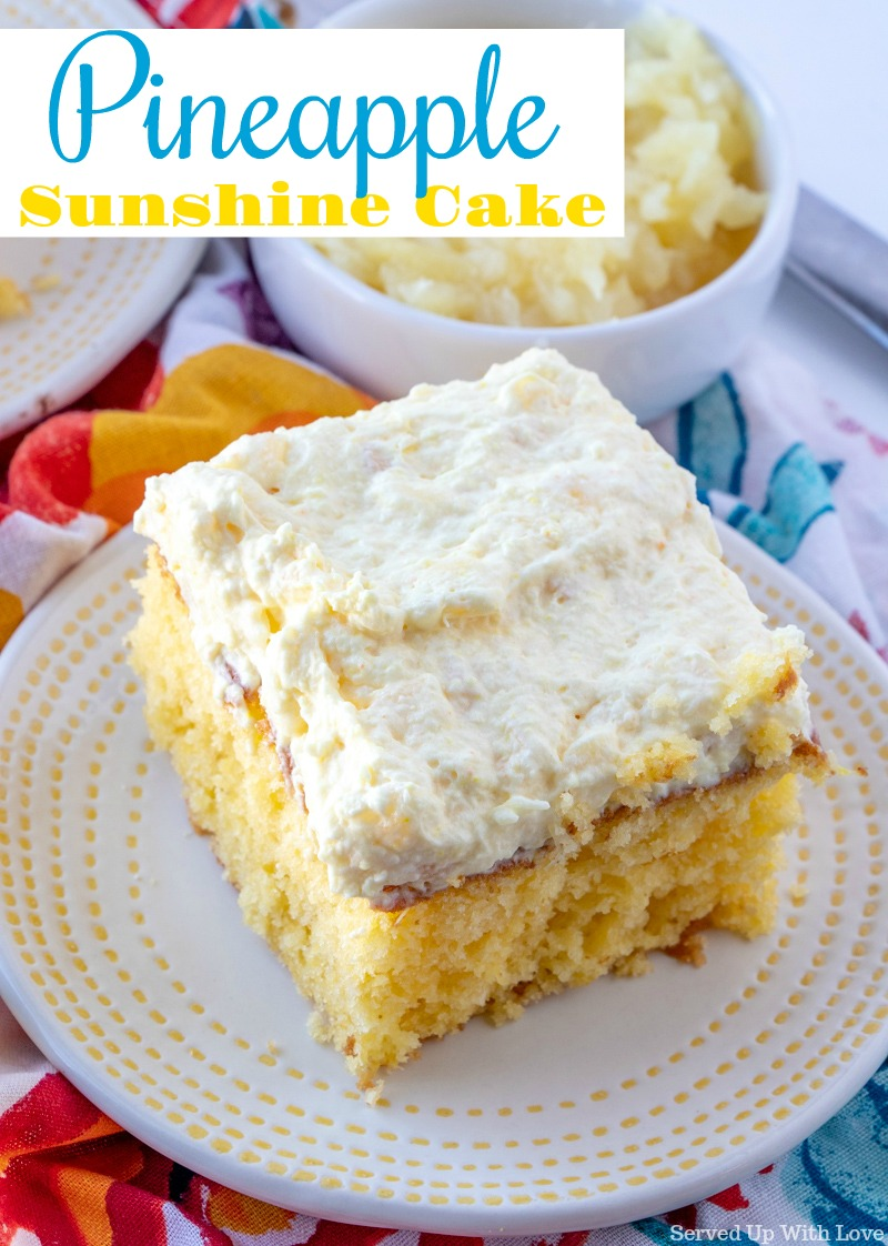 Pineapple Sunshine Cake Don T Lose This Recipe Lusciousfoodie