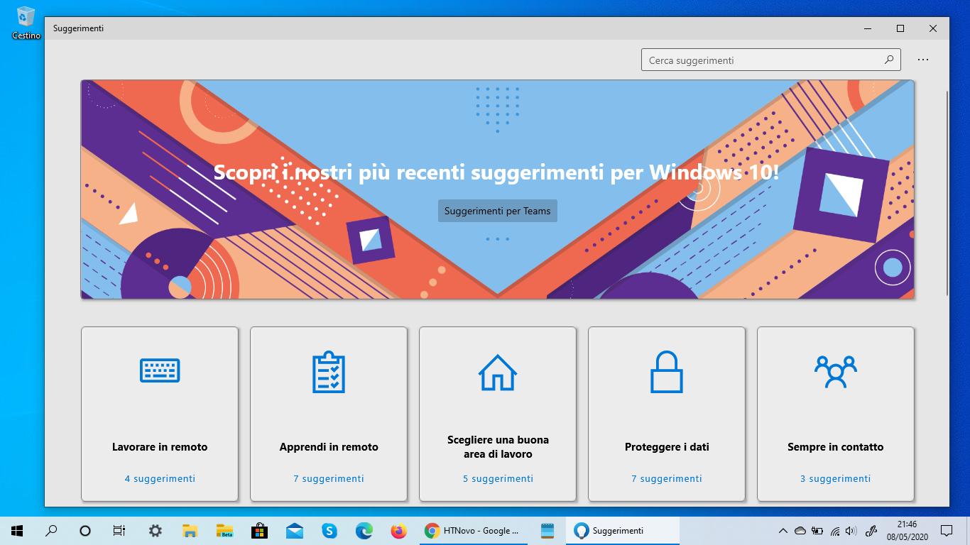 L'App Suggerimenti Microsoft si aggiorna in chiave Smart Working
