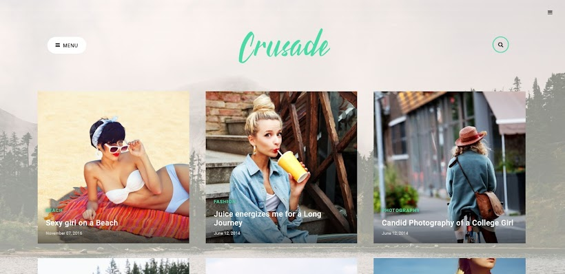 Crusade Free Blogger Template