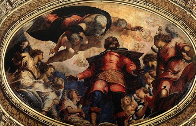 """""""St. Roch na glória. """" Jacopo Tintoretto. 1564 / Foto: desharel.blogspot.com"""