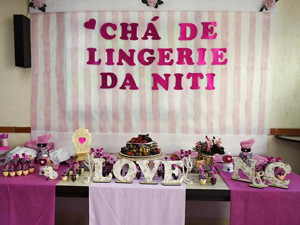 Meu Chá de Lingerie (Decoração) Rosa Customização Gastando Pouco Reciclando DIY