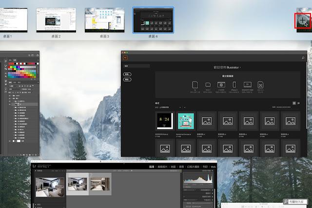 【MAC 幹大事】提升效率的多重桌面 / 分割顯示 - 透過指揮中心新增桌面