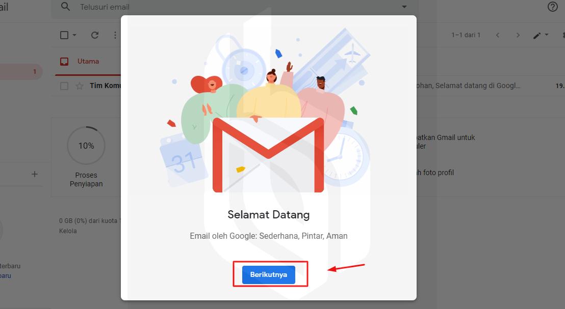 cara membuat email - langkah 8