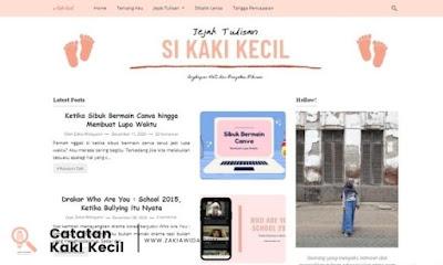Tampilan blog baru