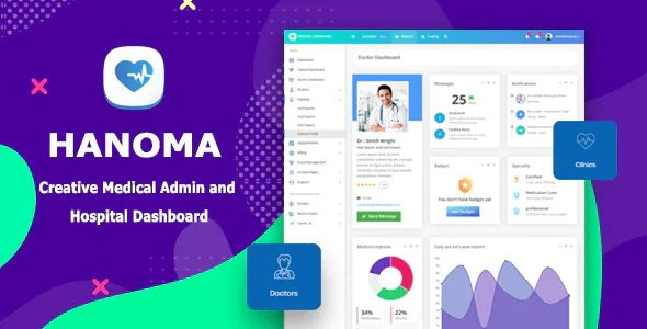 Medical Admin & Hospital Dashboard Template