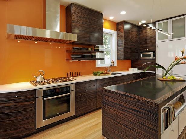 Dapur Cantik Dengan Warna Atraktif Desain Rumah
