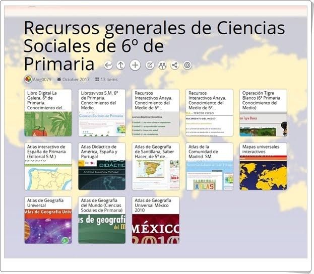 13 RECURSOS GENERALES DE CIENCIAS SOCIALES DE 6º DE PRIMARIA