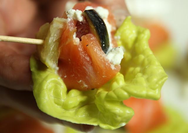 Fresh Figs, Smoked Salmon Gluten-free Appetiser Organic Recipe