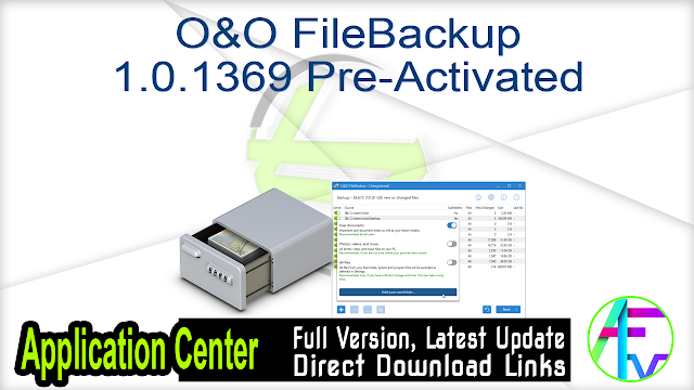 O&O FileBackup 1.0.1369 Pre-Activated