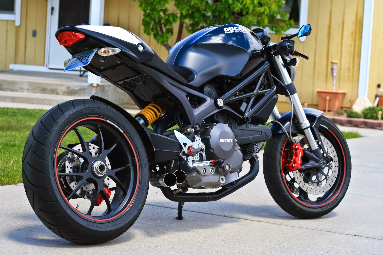 ducati monster 696 cafe racer - way2speed performance