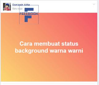 status facebook dengan warna latar belakang orange