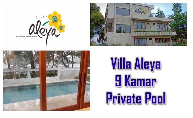 Villa besar terbaru di lembang fasilitas kolam renang