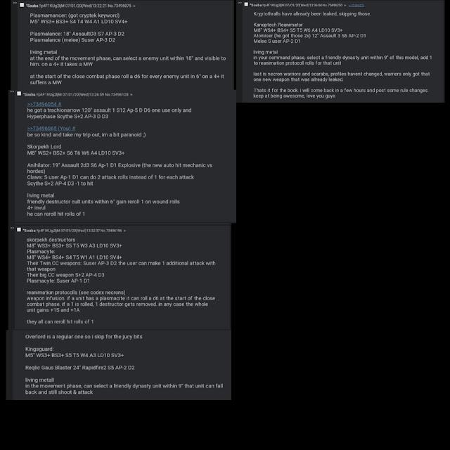 reglas Necrones Indomitus
