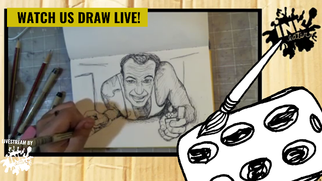 Drawing Bruce Willis from Die Hard - Line work Time lapse