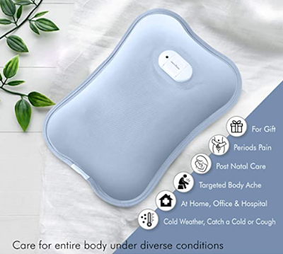 HealthSense Heat-Mate HB 700 Electric Hot Water Bag for Pain Relief & Keeping Your Body Warm