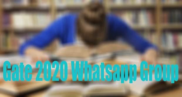 Gate 2020 Whatsapp Group Link, gate whatsapp group