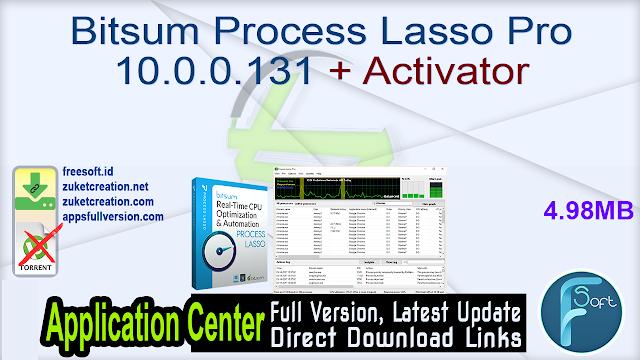 Bitsum Process Lasso Pro 10.0.0.131 + Activator