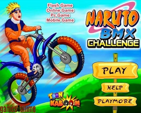تحميل لعبة دراجات ناروتو الهوائية بي ام اكس Naruto BMX