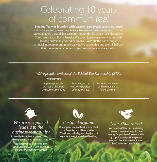 Celebrating 10 years of communitea! Steeped Tea is a proud member of the Ethical Tea Partnership (ETP)