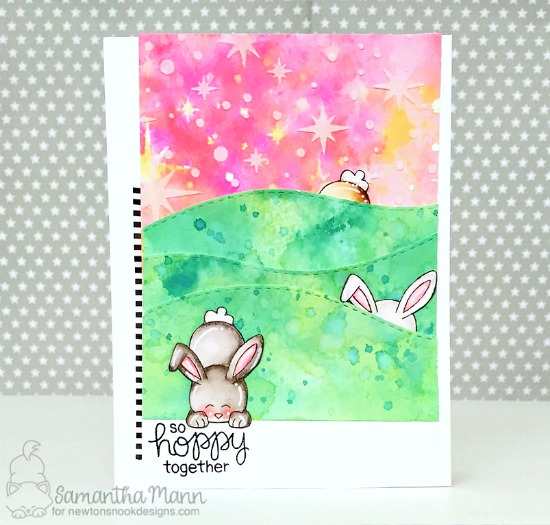 Bunny Card by Samantha Mann | Bitty Bunnies Stamp Set by Newton's Nook Designs #newtonsnook