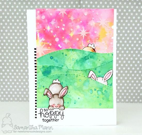Bunny Card by Samantha Mann | Bitty Bunnies Stamp Set by Newton's Nook Designs #newtonsnook