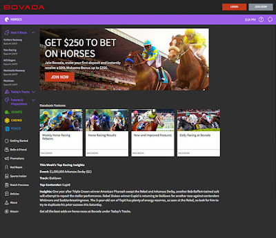Sports site - Bovada review