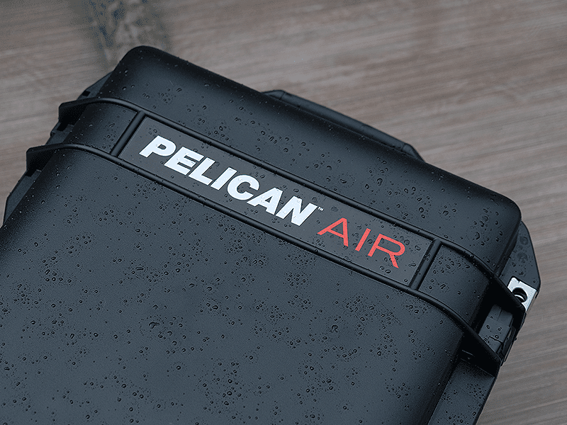 Raindrops on the water-resistant Pelican AIR