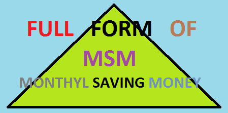 FULL FORM OF MSM