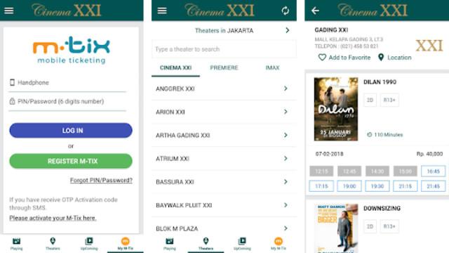 aplikasi booking tiket bioskop