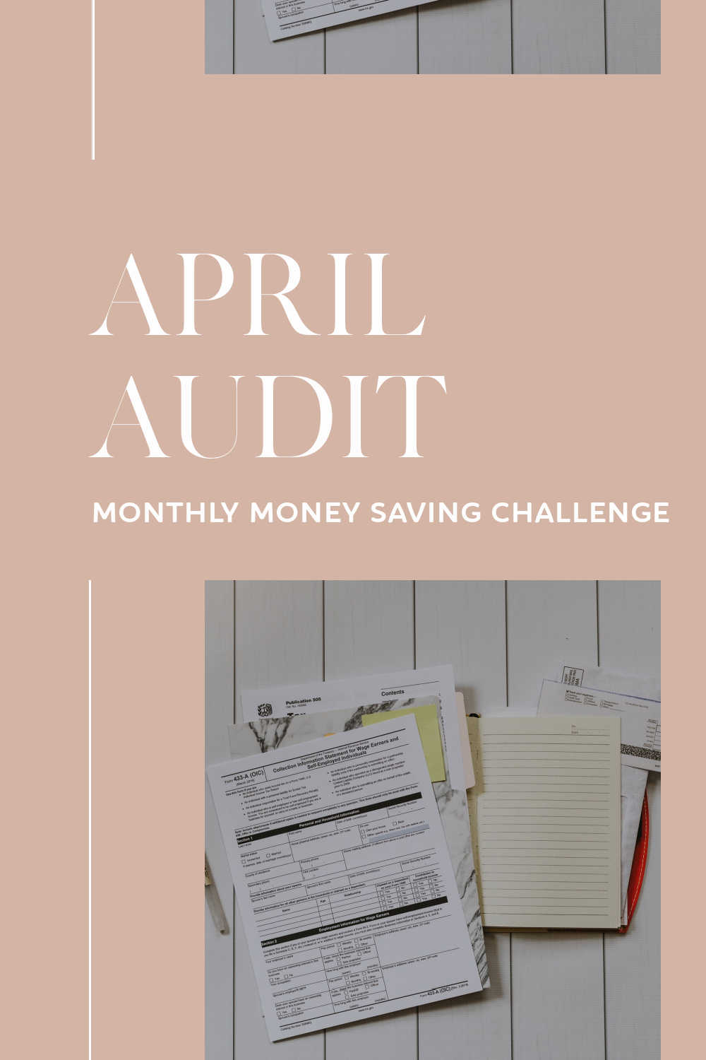 april audit monthly money saving challenge