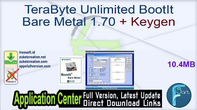TeraByte Unlimited BootIt Bare Metal 1.70 + Keygen