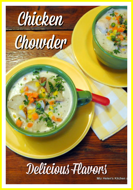 Slow Cooker Chicken Chowder at Miz Helen's Country Cottage