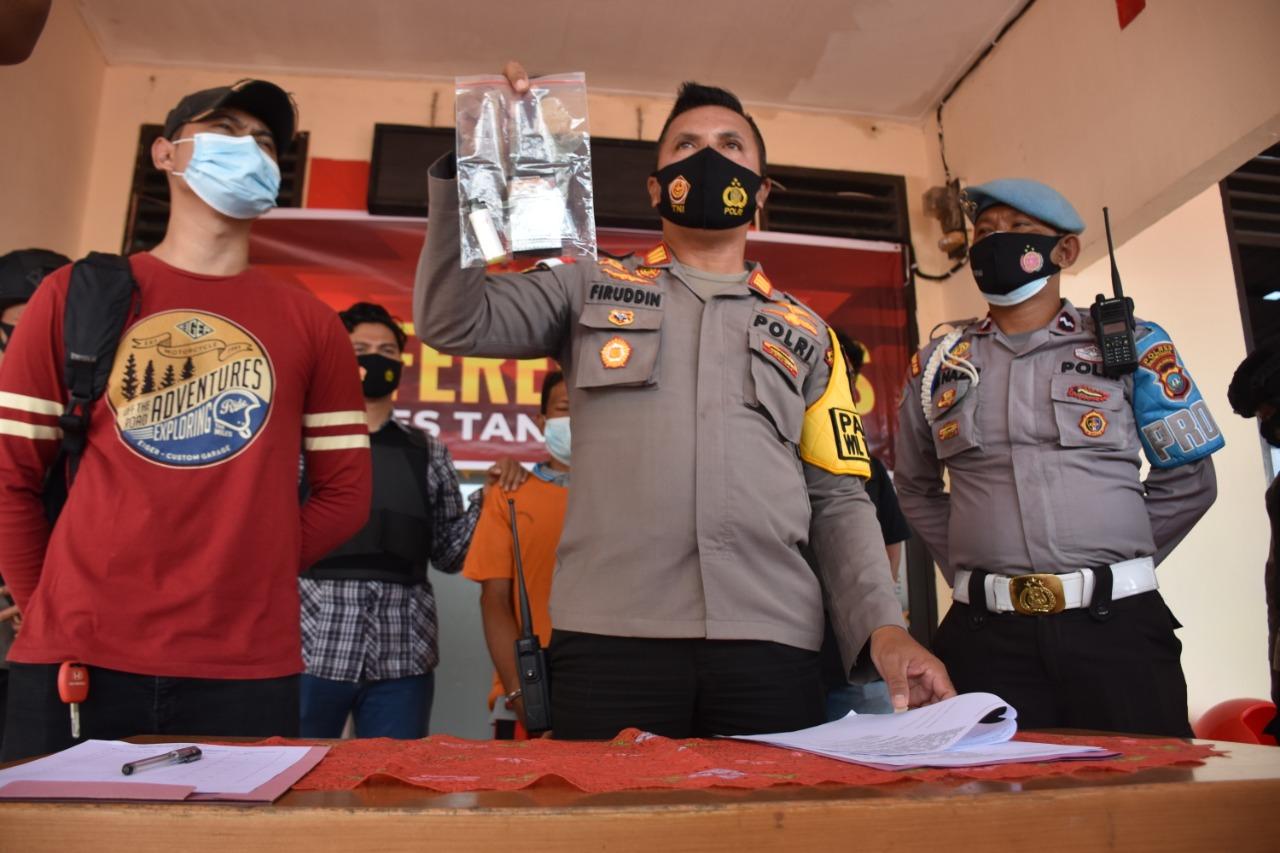 Polsek Tanjungpinang Timur Amankan Seorabg Pria Yang Diduga Melakukan Tindak Pidana Karhutla