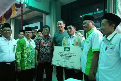 Walikota Semarang Resmikan Klinik Pratama Nahdlatul Ulama