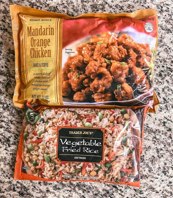 Mandarin Orange Chicken and Vegetable Fried Rice
