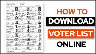 How to Download voter list Online