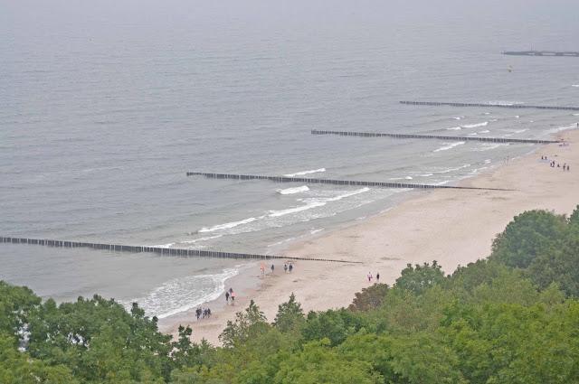 Niechorze widok na plaże z latarni morskiej,