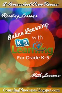 Online Reading and Math lessons for grades K-5 #hsreviews #k5learning #math #reading