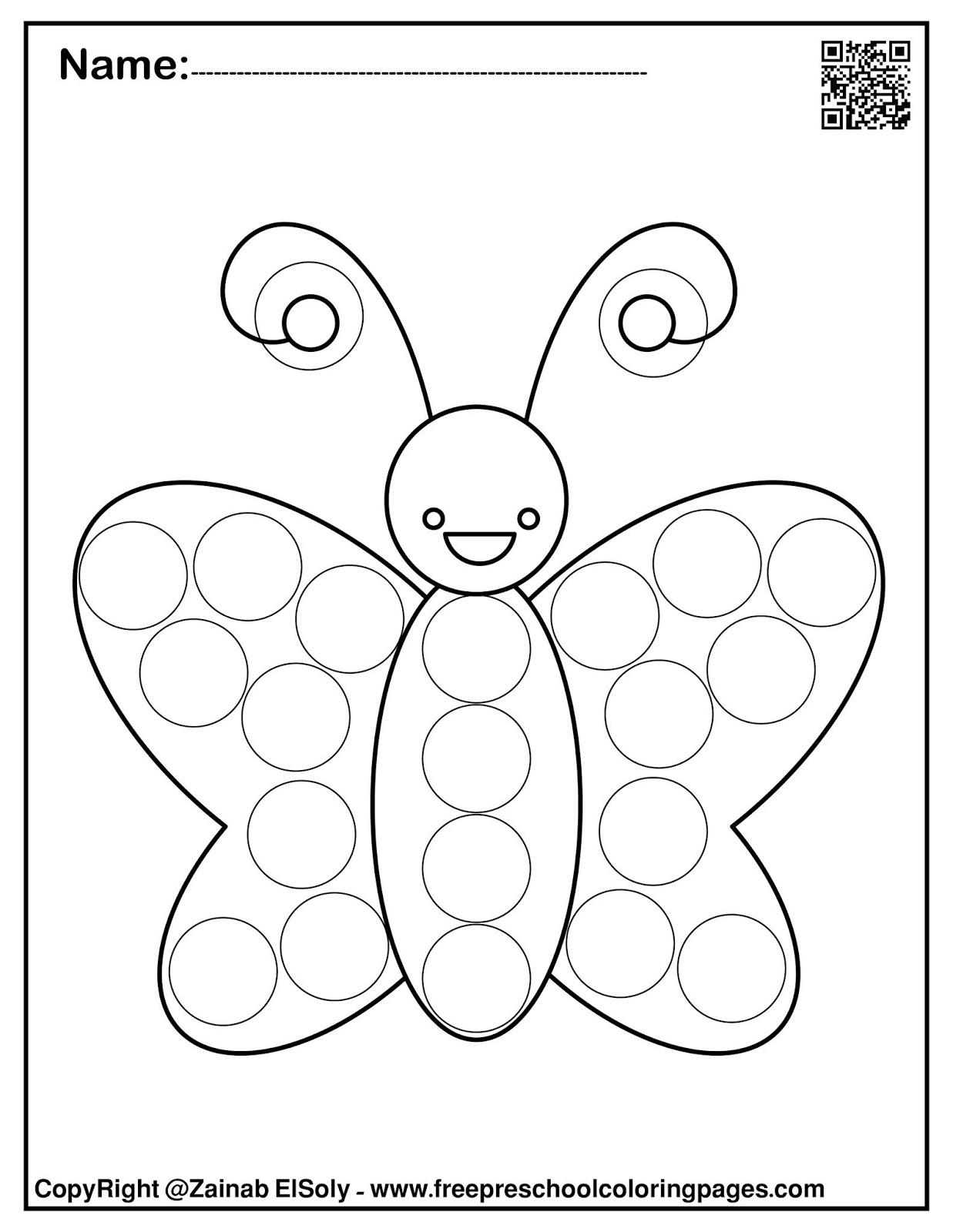 - Set Of Spring Dot Marker Free Coloring Pages