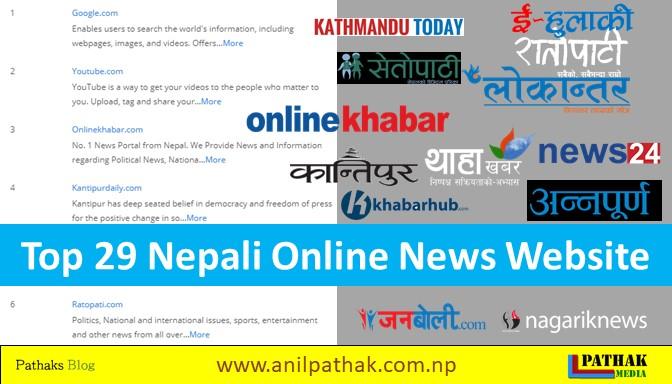 Top 29 Online News In Nepal