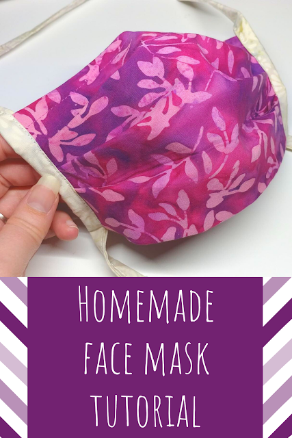 Making homemade face masks with straps