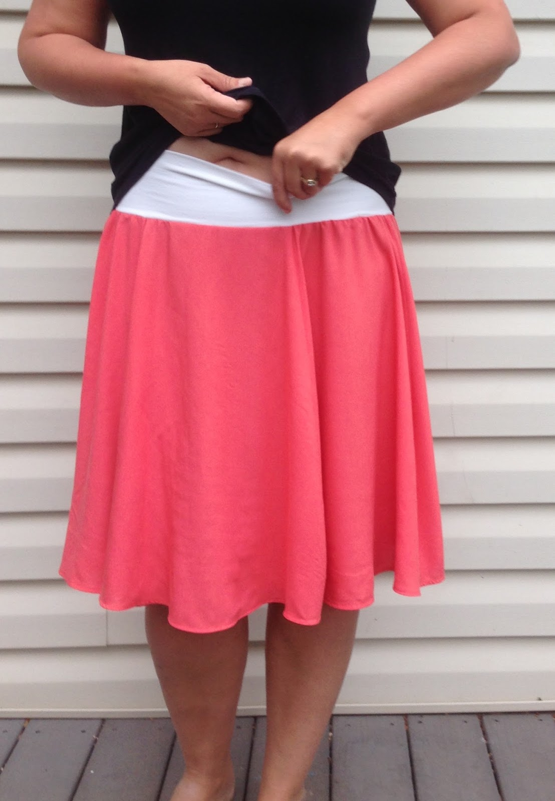 The itinerant seamstress circle skirt conversion the pattern itself is easy to sew and can be made in one sitting there are only two pattern pieces for the view i made and only five for the most bankloansurffo Image collections