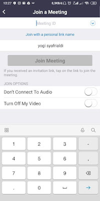 Cara Join Meeting di Aplikasi Zoom Android/IOS