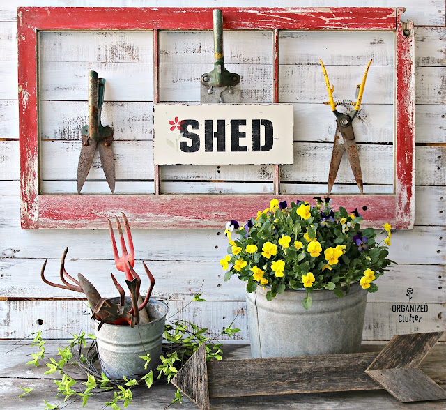 Photo of a grass shears shed sign.