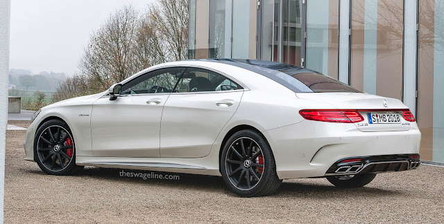 Mercedes CLS four-door coupé rendering
