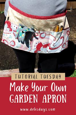 Handmade gardening apron