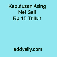 Keputusan Asing Net Sell Rp 15 Triliun