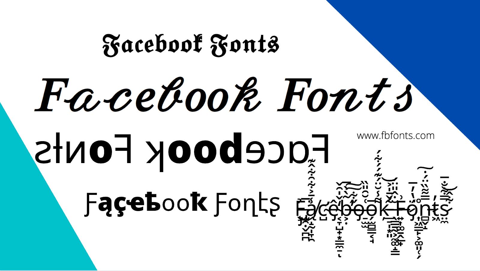 Facebook Fonts